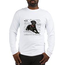 Black Lab Traits Long Sleeve T-Shirt