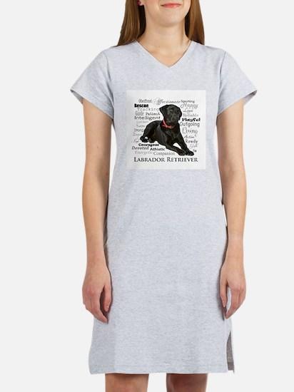 Black Lab Traits Women's Nightshirt