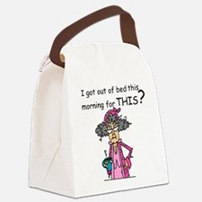 Hate Mornings Canvas Lunch Bag