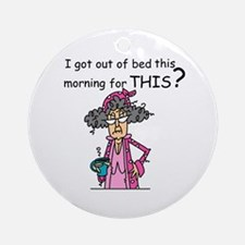 Hate Mornings Ornament (Round)