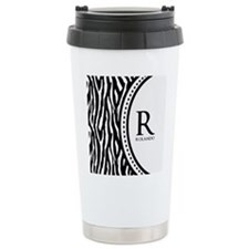 Trendy Animal Print Monogram Travel Mug