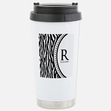 Trendy Animal Print Monogram Travel Mug