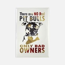 NO BAD PIT BULLS AF4 Magnets