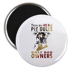 NO BAD PIT BULLS AF4 Magnets