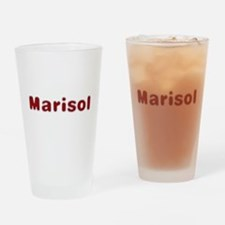 Marisol Santa Fur Drinking Glass