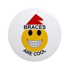 Braces Are Cool Ornament (round)