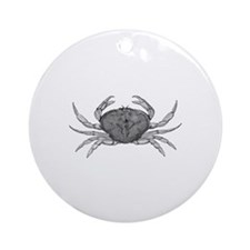Dungeness Crab (line art) Ornament (Round)