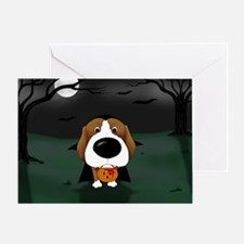 Beagle Vampire Halloween Greeting Card