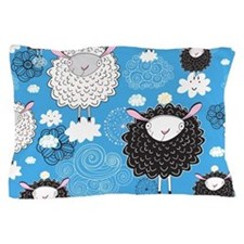 Whimsical Sheep Pillow Case