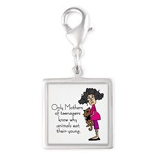 Mothers of Teenagers Silver Square Charm