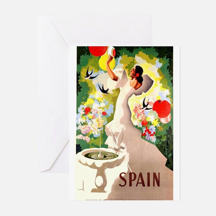 Antique 1941 Spanish Flamenco Dancer Travel Poster