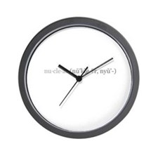 Nuclear (say it right)  Wall Clock