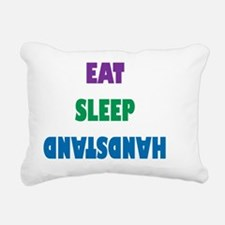 Eat Sleep Handstand  Rectangular Canvas Pillow