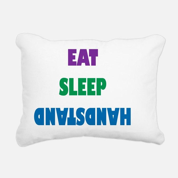 Eat Sleep Handstand  Rectangular Canvas Pillow