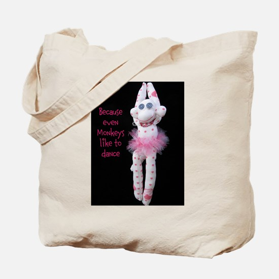 Monkeys Dance Tote Bag
