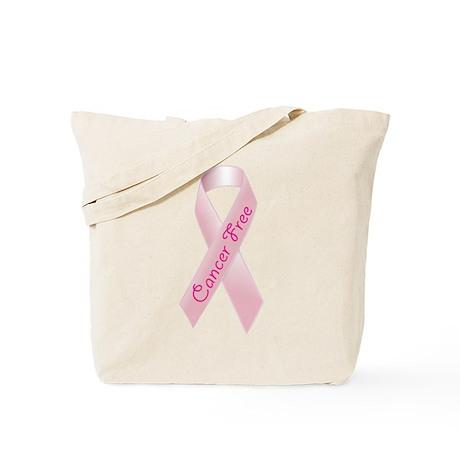 Breast Cancer Free Ribbon Tote Bag