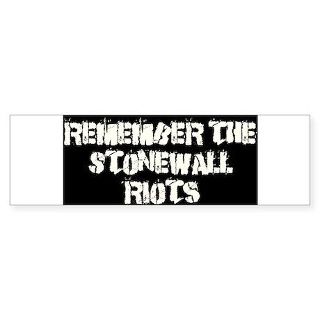 Remember Stonewall Bumper Sticker