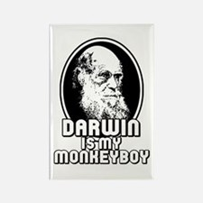 Darwin is my Monkeyboy Rectangle Magnet