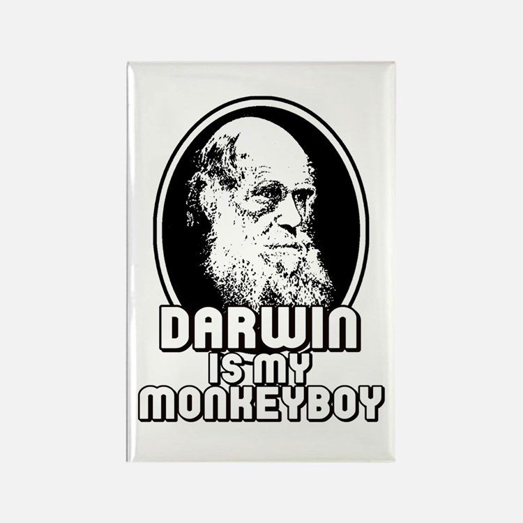Darwin is my Monkeyboy Rectangle Magnet