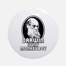 Darwin is my Monkeyboy Ornament (Round)