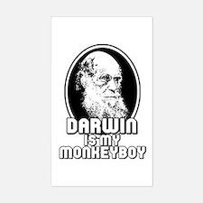 Darwin is my Monkeyboy Rectangle Decal