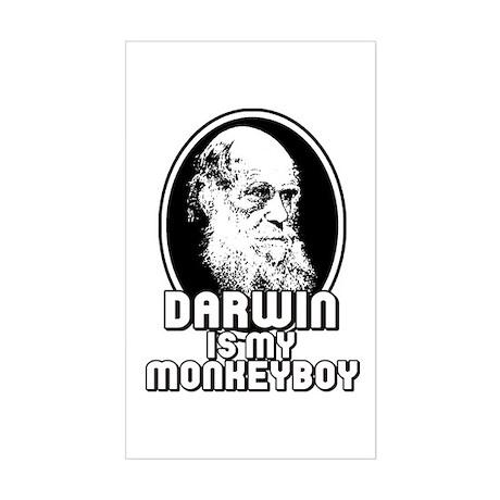 Darwin is my Monkeyboy Rectangle Sticker