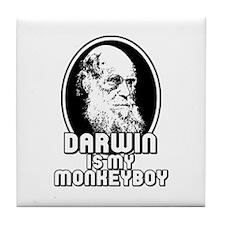 Darwin is my Monkeyboy Tile Coaster