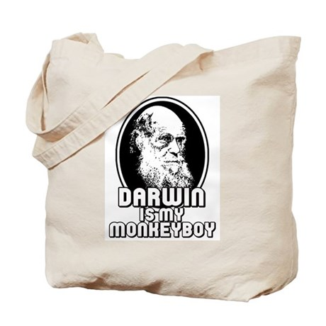 Darwin is my Monkeyboy Tote Bag
