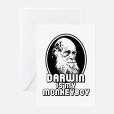 Darwin is my Monkeyboy Greeting Cards (Package of