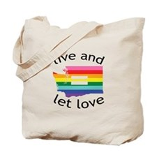 Washington equality live love blk font Tote Bag