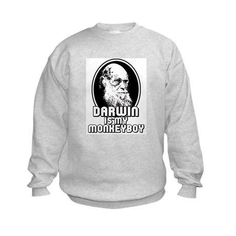 Darwin is my Monkeyboy Kids Sweatshirt