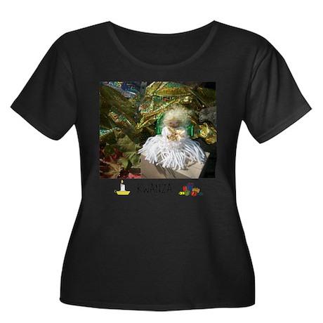 HAPPY HOLIDAYS KWANZA ANGEL. Plus Size T-Shirt