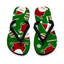 Cute Round Santa Claus Print Flip Flops