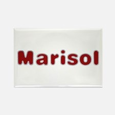 Marisol Santa Fur Rectangle Magnet