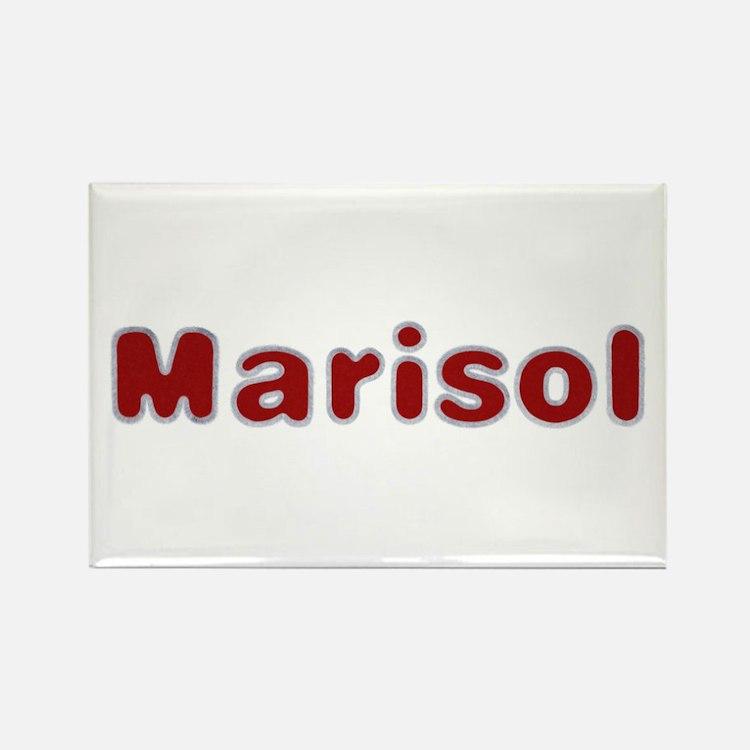 Marisol Santa Fur Rectangle Magnet