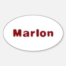 Marlon Santa Fur Oval Decal