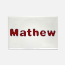 Mathew Santa Fur Rectangle Magnet