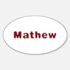 Mathew Santa Fur Oval Decal