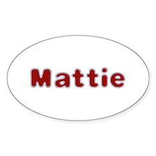 Mattie Santa Fur Oval Decal