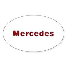 Mercedes Santa Fur Oval Decal