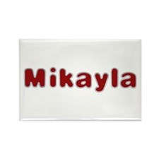 Mikayla Santa Fur Rectangle Magnet