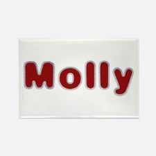 Molly Santa Fur Rectangle Magnet