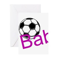 Soccer Babe Greeting Cards