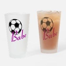 Soccer Babe Drinking Glass