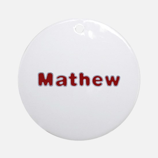 Mathew Santa Fur Round Ornament