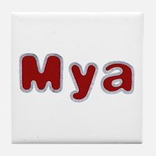 Mya Santa Fur Tile Coaster