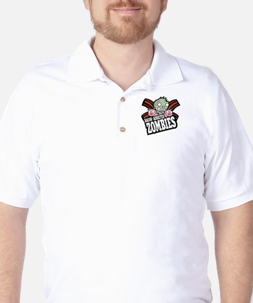 Bacon Addicted Zombies Golf Shirt