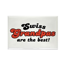 Swiss Grandpas are the Best Rectangle Magnet