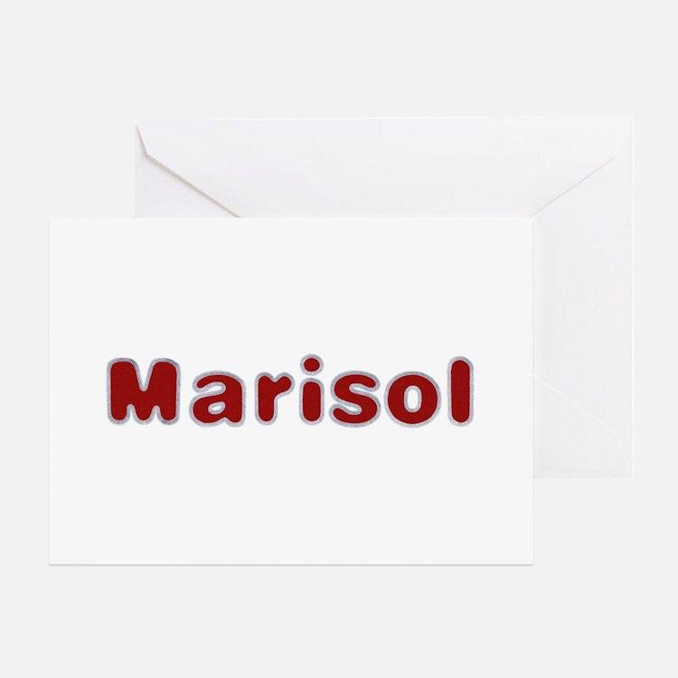Marisol Santa Fur Greeting Card