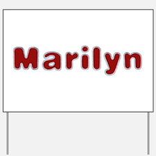 Marilyn Santa Fur Yard Sign